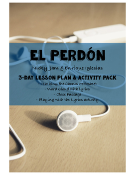El Perdón by Nicky Jam Activity Packet