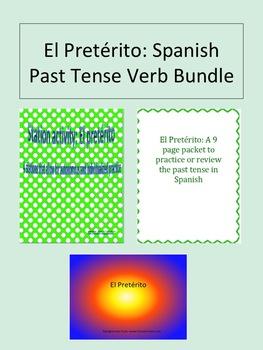 El Pretérito: Past Tense Spanish Verb Bundle