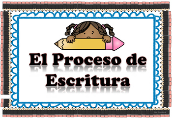 El Proceso de escritura / The Writing Process posters