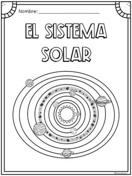 El Sistema Solar - páginas para colorear
