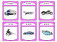 El Transporte Spoons Card Game -The Transportation Vocabul