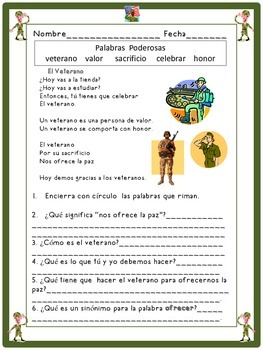 El Veterano: A Spanish Poem With Questions