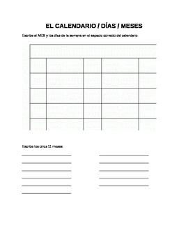 El calendario y formas / adjrectivos - calendar and shapes