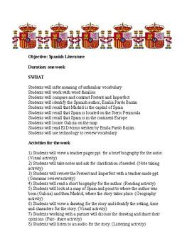 El décimo por Emilia Pardo Bazán Lesson plan