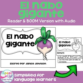 El nabo gigante Spanish The Enormous Turnip Reader ~ for L