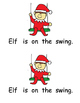 Elf Printable Book with Word Cards and Response Activity: Level A