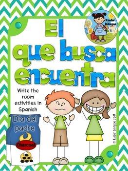 El que busca encuentra (Día del Padre) Write the room in Spanish