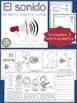 El sonido: Un librito sobre el sonido y hojas de trabajo ~