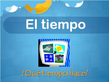 El tiempo, Spanish weather PowerPoint