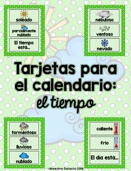 El tiempo (Tarjetas para el calendario)