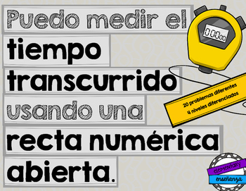 El tiempo transcurrido: elapsed time & open number lines [