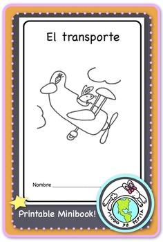 El transporte Spanish Printable Minibook