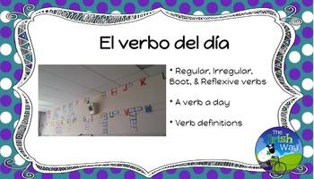 El Verbo del Día - 154 Verbs Daily Practice - Spanish 1- 4