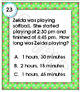 Elapsed Time Task Cards Telling Time Word Problems