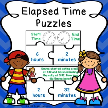 Elapsed Time Game Puzzles with Elapsed Time Word Problems