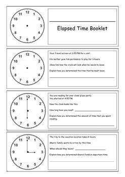 Elapsed Time Booklet (Beginning)
