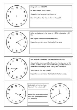 Elapsed Time Booklet (Challenging)