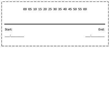 Elapsed Time Line Task Card