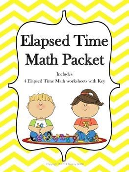 Elapsed Time Math Warm Ups With Key