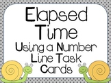 Elapsed Time On A Number Line Task Cards: 3.MD.1, 4.MD.2