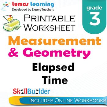 Elapsed Time Printable Worksheet, Grade 3