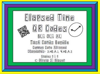 Elapsed Time QR Codes Differentiated Task Cd Bundle-Common