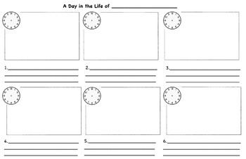 Elapsed Time Story Writing Project Sheet