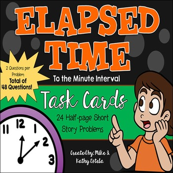 Elapsed Time Task Cards {To the Minute}