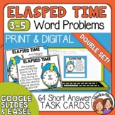 Elapsed Time Word Problem Task Cards | Math Story Problems