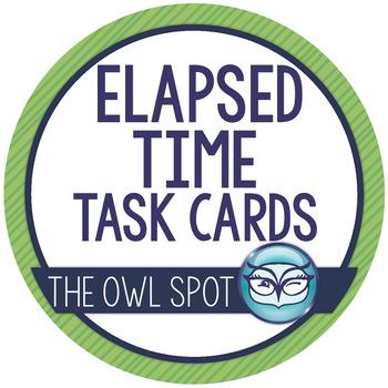 Elapsed Time Task Cards: Penguins!