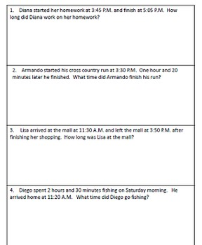 Elapsed Time with Teaching Strategies