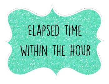 3.MD.1 Elasped Time Within the Hour Fly Away