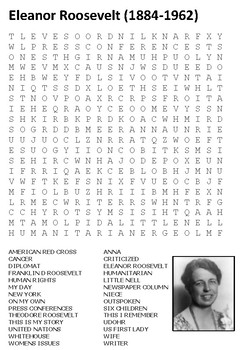 Eleanor Roosevelt Word Search