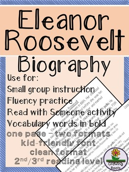 Eleanor Roosevelt Biography