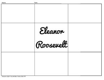 Eleanor Roosevelt Character Quilt