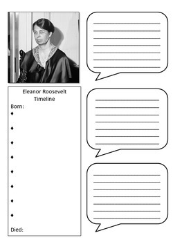 Eleanor Roosevelt History Notebook Page