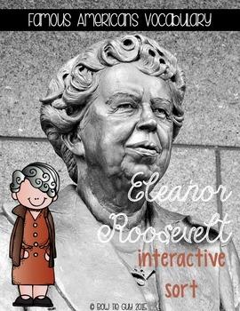 Eleanor Roosevelt Interactive Vocabulary Sort