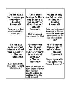 Eleanor Roosevelt Quote Cards Printable FREEBIE!!
