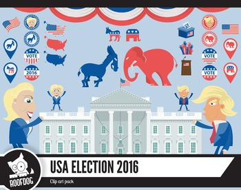 Election 2016 clipart pack