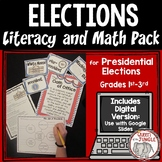 Election Literacy and Math Packet - Presidential Election 2016