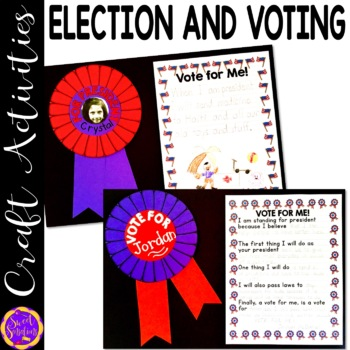 Election and Voting Day Craft and Writing Activity