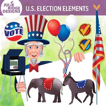 Election elements clip art