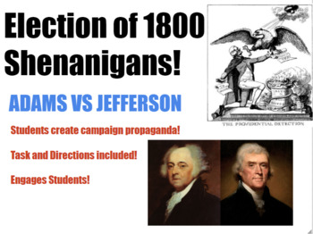 Election of 1800 Shenanigans! Campaign Project for Middle