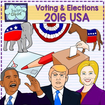 Elections & Voting 2016 USA - Candidates realistic clip ar
