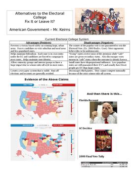 Electoral College Alternatives Handout