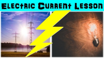 Electric Current No Prep Lesson with Power Point, Workshee