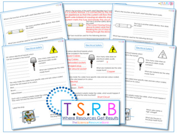 Electrical Hazards & Safety Questions/Worksheet