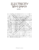 Electricity and Magnetism Word Search Puzzle