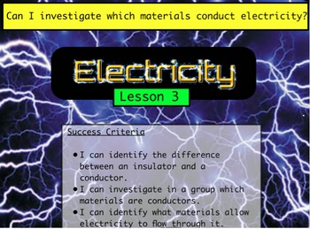 Electricity - Conductors and Insulators (Lesson 3 of 10)
