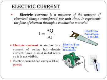 Electricity, Current and Ohm's Law (Presentation and Handout)